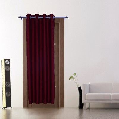 Zappy Cart Polyester Red Solid Curtain Window Curtain