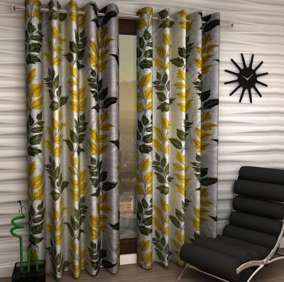 Home Fantasy Polyester Multicolor Floral Eyelet Window Curtain