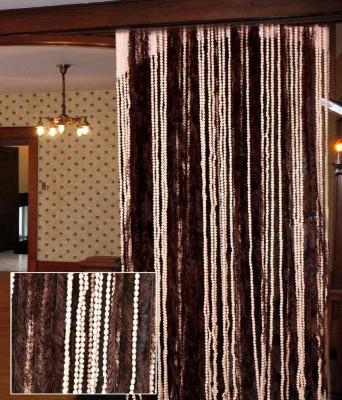 Homesazz Polyester Multicolor Striped Rod pocket Door Curtain