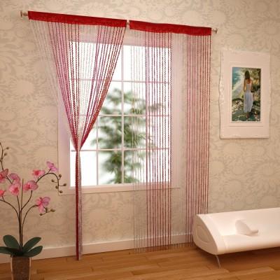RAMCHA Polyester Multicolor Abstract Rod pocket Window & Door Curtain