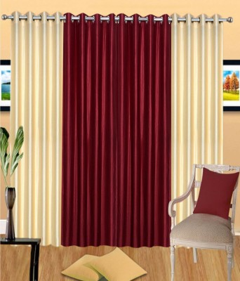 PHF Polyester Multicolor Plain Eyelet Window Curtain