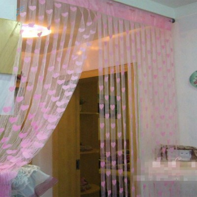 Jars Collections Polyester Pink Self Design Eyelet Door Curtain