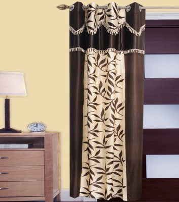 JMT Polyester Multicolor Self Design Eyelet Door Curtain