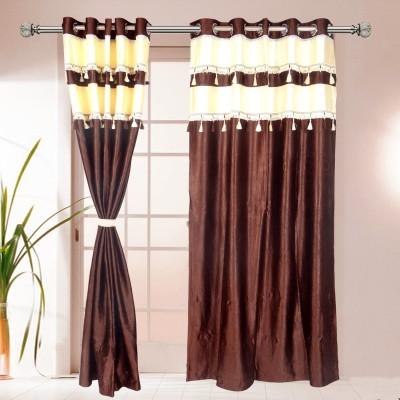 I Catch Blends Brown Plain Curtain Door Curtain