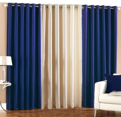 Qual Polyester Multicolor Plain Eyelet Door Curtain
