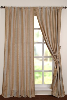 Deco Window Polyester Multicolor Printed Eyelet Window Curtain