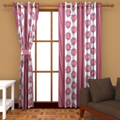 Trendz Home Furnishing Polyester Multicolor Printed Eyelet Window & Door Curtain