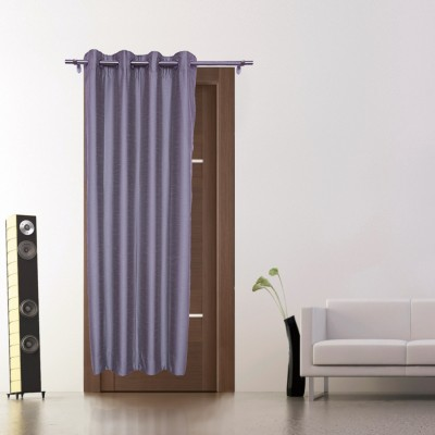 Zappy Cart Polyester Grey Solid Curtain Window Curtain