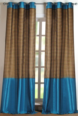 Deco Window Polyester Light Blue Solid Eyelet Door Curtain