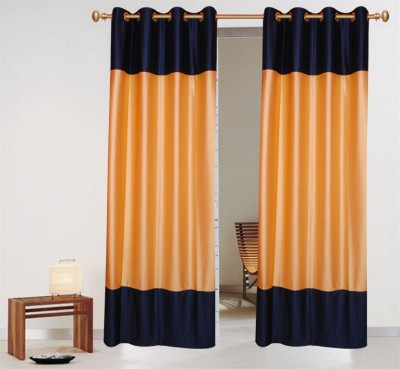 Batham Sales Blends Multicolor Plain Eyelet Long Door Curtain