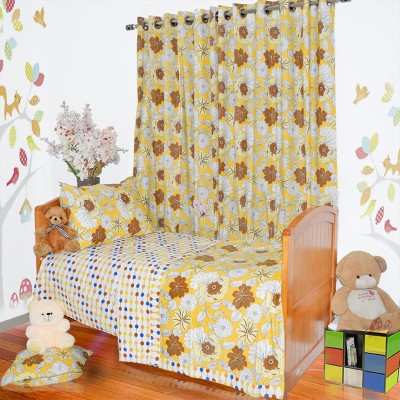 Aurraa Floral Single Quilts & Comforters Yellow