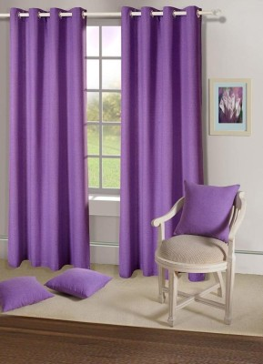 House This Cotton Purple Floral Eyelet Window Curtain