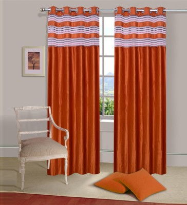 Ville Style Polyester Rust Solid Eyelet Door Curtain