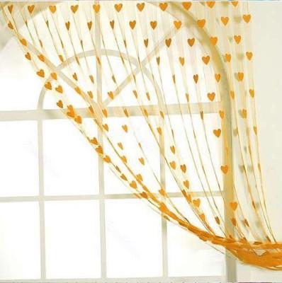 Ramcha Polyester Orange Abstract Eyelet Door Curtain
