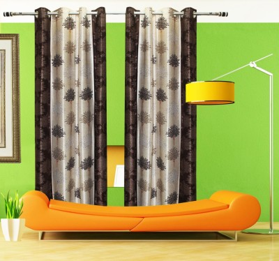 Home Fashion Gallery Polyester Multicolor Floral Eyelet Window Curtain
