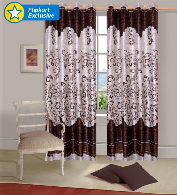 IWS Polyester Multicolor Printed Eyelet Door Curtain