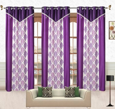 Comfort Zone Polyester Blue And White Damask Eyelet Door Curtain