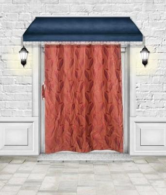 Lukluck Polycotton Multicolor Self Design Ring Rod Door Curtain