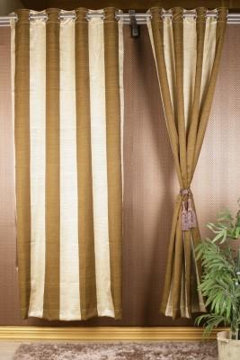 Homelife Satin Multicolor Geometric Eyelet Window Curtain