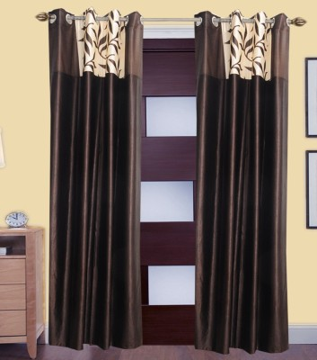 Shiv Shankar Handloom Polyester Multicolor Printed Eyelet Door Curtain