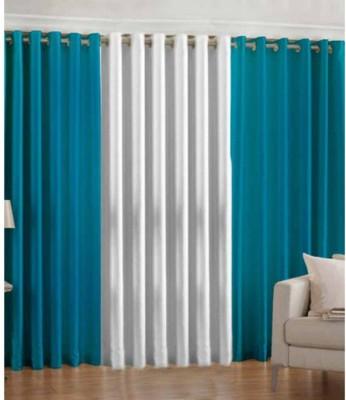 Polycotton Multicolor Plain Eyelet Door Curtain