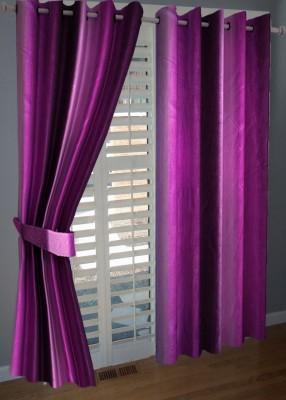 ABhomedecor Polyester Multicolor Plain Eyelet Window Curtain