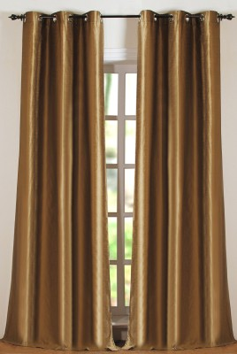 Deco Window Polyester Green Solid Eyelet Long Door Curtain