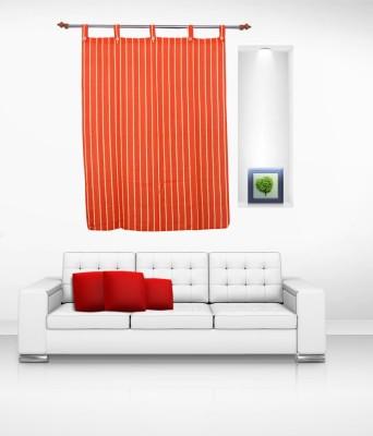 Lukluck Cotton Orange Abstract Ring Rod Window Curtain