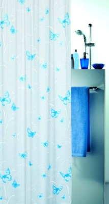 Spread PVC Multicolor Printed Eyelet Shower Curtain