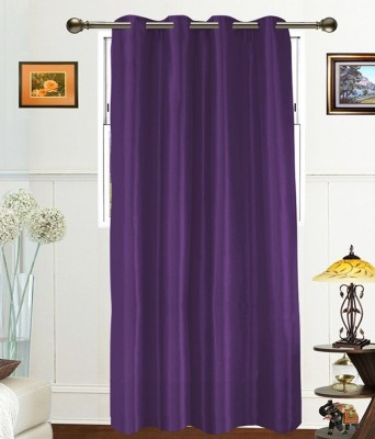 PHM Polyester Purple Floral Eyelet Door Curtain