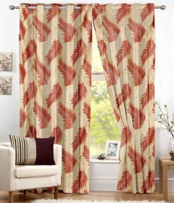 Home Deco vatika Polyester Maroon Printed Curtain Door Curtain