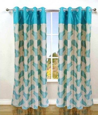 Ech Oly Polyester Multicolor Printed Eyelet Window & Door Curtain