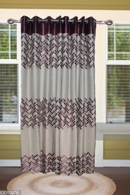 shoppeholics Blends, Silk Grey Abstract Curtain Door Curtain