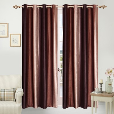 Azaani Polyester Multicolor Striped Eyelet Door Curtain