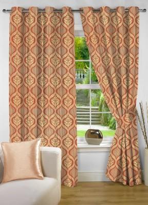 NuHome Decor Polyester Multi-Colour Motif Eyelet Long Door Curtain