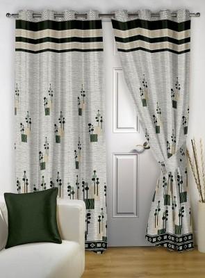 Jai Ganga Polycotton Multi-Colour Floral Curtain Door Curtain