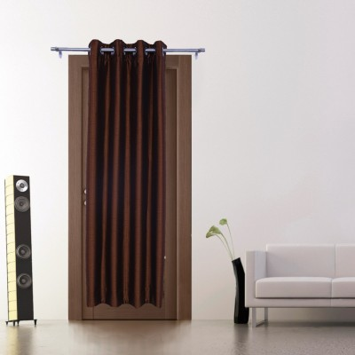Zappy Cart Polyester Brown Solid Curtain Long Door Curtain