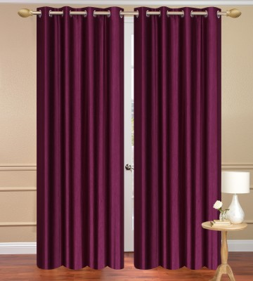 Daddyhomes Polyester Purple Plain Curtain Door Curtain