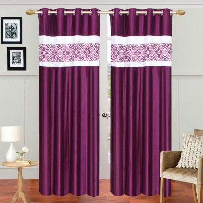 Dreamshomes Polyester Purple Solid Rod pocket Door Curtain