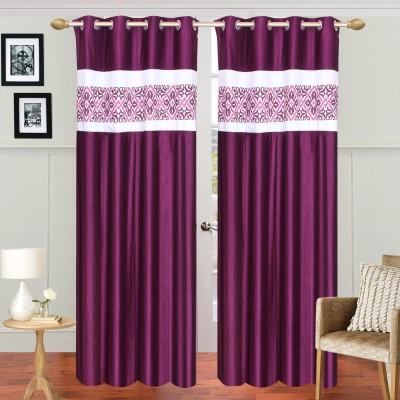 Decorista Polyester Multicolor Solid Rod pocket Door Curtain