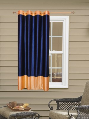 Batham Sales Blends Blue Plain Eyelet Window Curtain