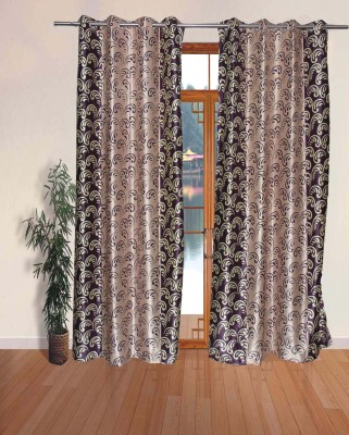 Fresh From Loom Polyester Multi Colour Abstract Eyelet Door Curtain