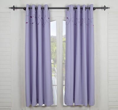 Maspar Cotton Grey Striped Eyelet Window Curtain