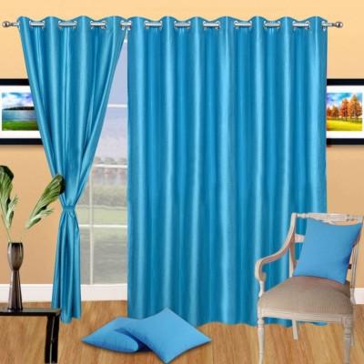 Excel Bazaar Polycotton Aqua Plain Eyelet Door Curtain