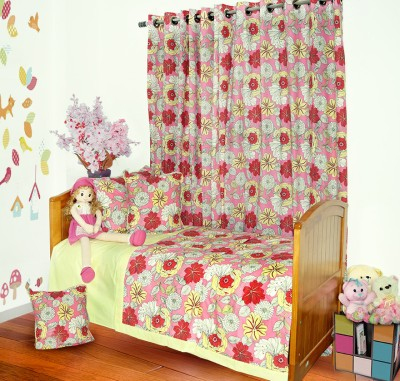 Aurraa Floral Single Quilts & Comforters Red