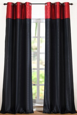 Deco Window Polyester Multicolor Printed Eyelet Door Curtain