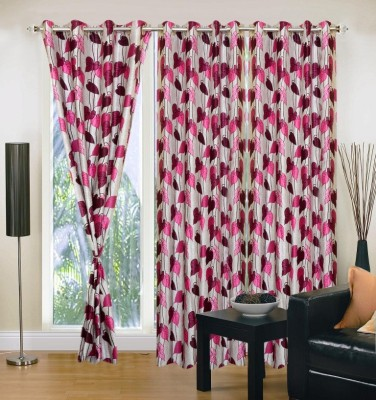 Brand Decor Polyester Multicolor Floral Eyelet Window Curtain