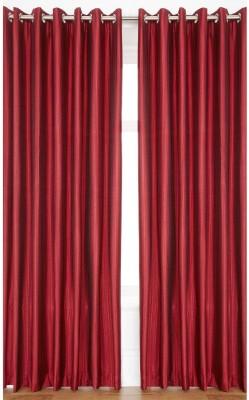 BTI Polyester Multicolour Plain Eyelet Door Curtain