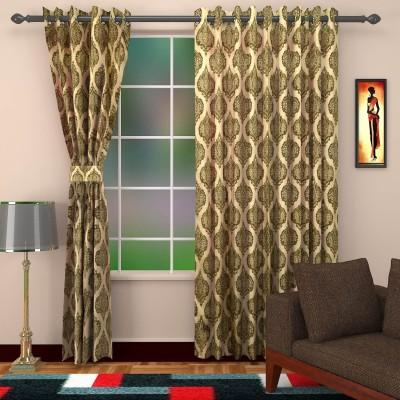 DBR Viscose Multicolor Checkered Eyelet Long Door Curtain
