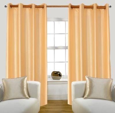 Glamora Interiors Polyester Gold Plain Curtain Window & Door Curtain